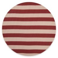 Style Statements by Surya Mount Langley 8-Foot Round Indoor/Outdoor Area Rug in Burgundy