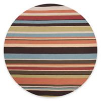 Style Statements by Surya Mount Lola 8-Foot Round Indoor/Outdoor Area Rug in Burgundy