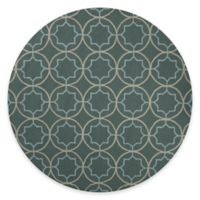 Style Statements by Surya Mount Morrison 8-Foot Round Indoor/Outdoor Area Rug in Moss