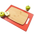 Architec® Poly & Bamboo 2-Piece Cutting Board Set in Red