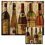 Wine Samples 12-Inch x 15-Inch Glass Cutting Board with Trivet Set