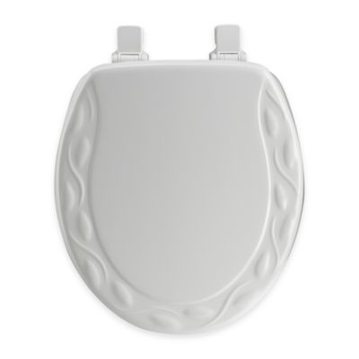 wide hinge toilet seat. Mayfair Round Ivy Molded Wood Toilet Seat in White with Easy Clean  Change Hinge Buy Seats from Bed Bath Beyond