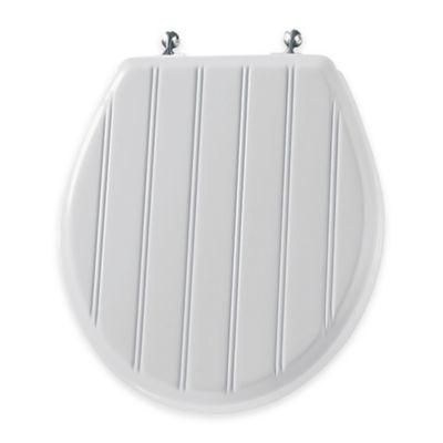 wooden white toilet seat. Mayfair Round Molded Wood Toilet Seat In Chrome With Easy Clean  Change Hinge Buy Seats From Bed Bath Beyond