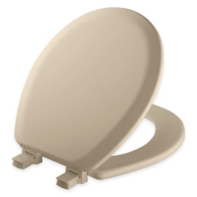 wooden toilet seat hinges. Mayfair Round Molded Wood Toilet Seat in Bone with Easy Clean  Change Hinge Buy Hinges from Bed Bath Beyond