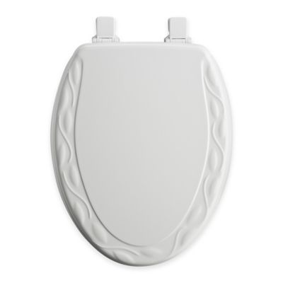 Mayfair Ivy Elongated Molded Wood Toilet Seat in White with Easy Clean  Change Hinge Buy Seats from Bed Bath Beyond