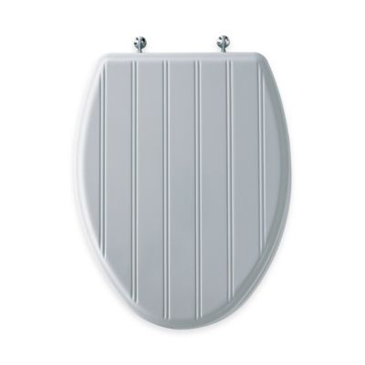Mayfair Cottage Classic Elongated Molded Wood Toilet Seat in White with  Chrome Hinge Buy Seats from Bed Bath Beyond