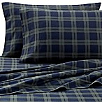 The Seasons Collection® Heavyweight Flannel Plaid Queen Sheet Set in Blackwatch