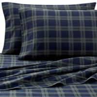 The Seasons Collection® Heavyweight Flannel Plaid Standard Pillowcases in Blackwatch (Set of 2)