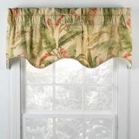 Samara 15-Inch Scallop Window Valance in Vanilla