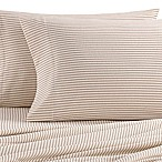 The Seasons Collection® Heavyweight Flannel Stripe Queen Sheet Set in Taupe