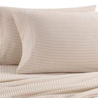 The Seasons Collection® Heavyweight Flannel Stripe Full Sheet Set in Taupe