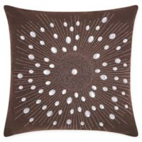 Mina Victory Sunburst Throw Pillow in Brown