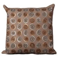 Mina Victory Circle Sequins Square Throw Pillow
