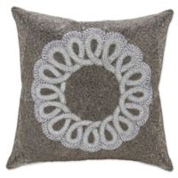 Mina Victory Infinity Throw Pillow in Pewter/Silver
