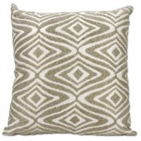 Mina Victory Beaded Waves Throw Pillow in Silver