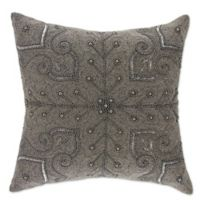 Mina Victory Persian Scroll Pillow in Pewter