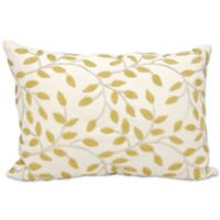 Michael Amini Vines Rectangle Throw Pillow in Silver/Gold