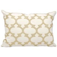 Michael Amini Lanterns Rectangle Throw Pillow in Silver/Gold