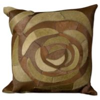 Mina Victory Rose Square Throw Pillow in Green