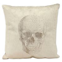 Mina Victory Lasercut Skull Square Throw Pillow