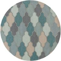 Artistic Weavers Pollack Morgan 6-Foot Round Area Rug in Teal
