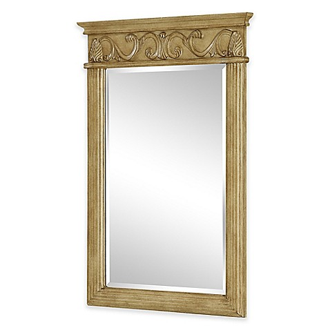 Isabella vanity mirror in antique beige bed bath beyond - Bed bath and beyond bathroom vanity ...