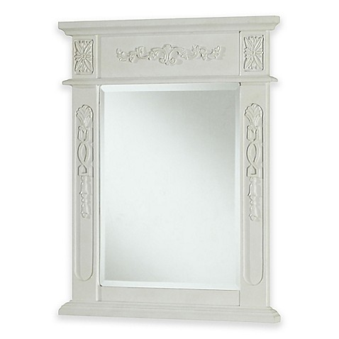 Venice vanity mirror in antique white bed bath beyond - Bed bath and beyond bathroom vanity ...