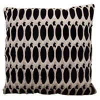 Mina Victory Dallas Rabbit Holes 18-Inch Square Throw Pillow in Grey/Black