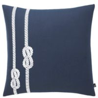 Nautica® Rope Square Throw Pillow in Navy