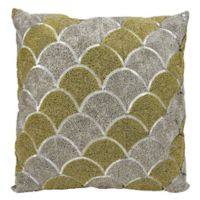 Michael Amini Bead Scallops Square Throw Pillow