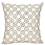 Mina Victory Couture Shimmer Starshine Square Throw Pillow in Ivory