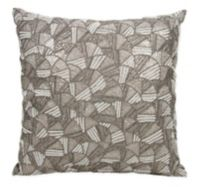 Mina Victory Couture Luster Whitney Square Throw Pillow in Pewter
