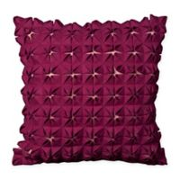 Mina Victory Square Pockets Square Throw Pillow in Purple
