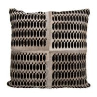 Mina Victory Dallas Rabbit Holes 20-Inch Square Throw Pillow in Grey/Black