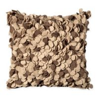 Mina Victory Felt Square Throw Pillow in Beige/Brown