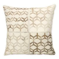 Mina Victory Dallas Modern Cubes Square Throw Pillow in White