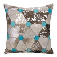 Mina Victory Dallas Stars Square Throw Pillow in Grey/Silver