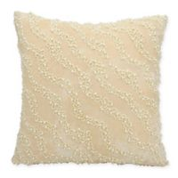 Mina Victory Couture Luster Pearla Square Throw Pillow in Champagne
