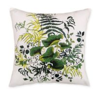 Kathy Ireland Home® by Gorham Green Lilly Pads Square Throw Pillow