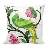 Kathy Ireland Home® by Gorham Whimsical Bird Square Throw Pillow