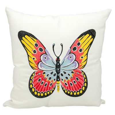 Kathy Ireland Home By Gorham Butterfly Square Throw Pillow