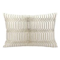 Kathy Ireland Home® by Gorham Beaded Rectangle Throw Pillow in Ivory