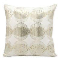 Kathy Ireland Home® Globes Square Throw Pillow in White