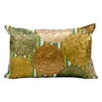 Kathy Ireland Home® by Gorham Circles Oblong Throw Pillow in Green