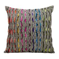 Kathy Ireland Home® by Gorham Waves Square Throw Pillow