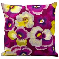 Kathy Ireland Home® by Gorham Square Pansies Throw Pillow