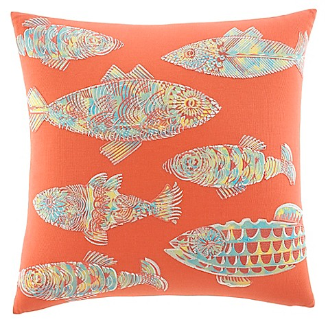 Bed Bath And Beyond Orange Throw Pillows : Tommy Bahama Batic Fish Square Throw Pillow in Orange - Bed Bath & Beyond