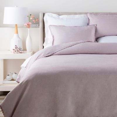 Surya Evelyn Twin Duvet Cover In Purple
