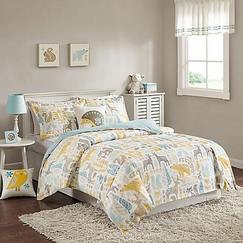 Ink Ivy Kids Woodland Comforter Set In Aqua Buybuy Baby