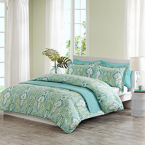 Echo Design 174 Kelly Paisley Quilt Mini Set In Aqua Multi